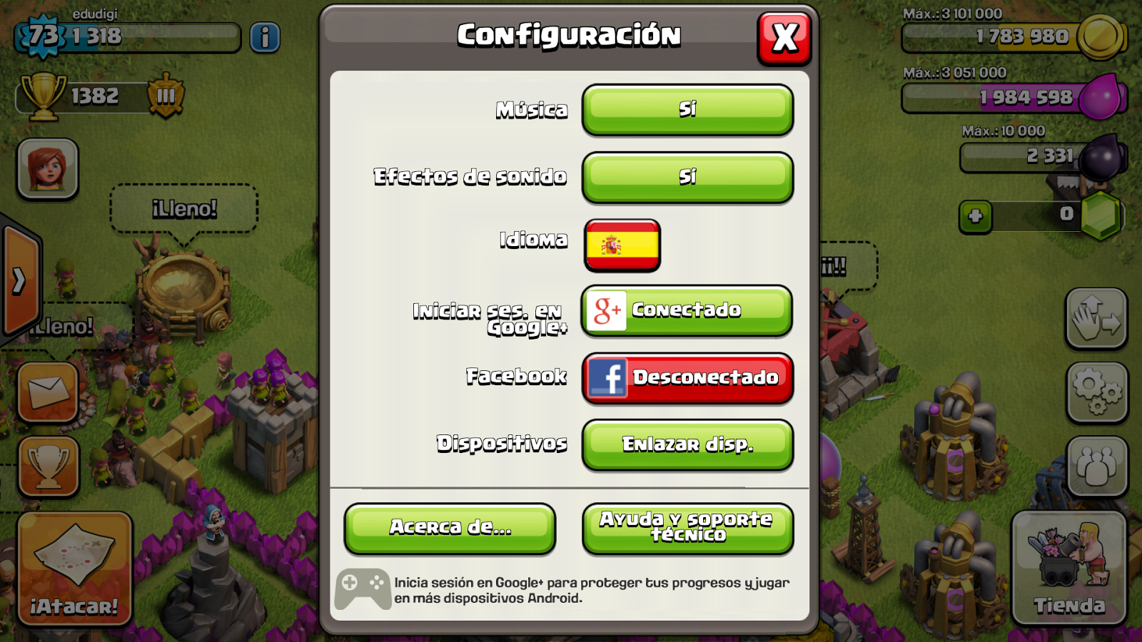 Clash Of Clans Obtener Codigo De Enlase De Ios A Android