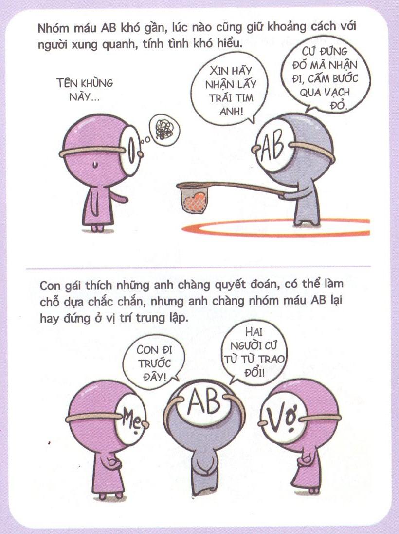 Tình yêu của 4 nhóm Máu A, B, O & AB