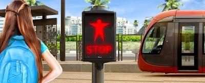 الإشارة الضوئية أو إشارة المرور خاص بطراموي