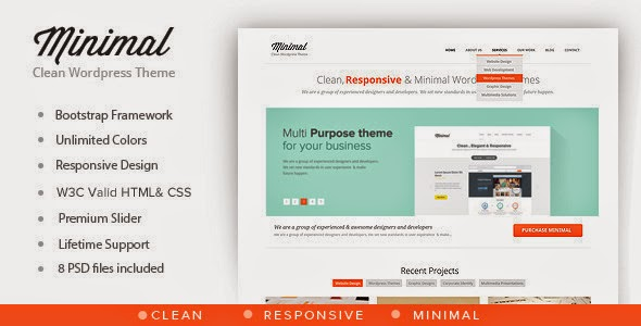 ThemeForest - Minimal v.1.0 – Multipurpose Minimal WordPress Theme
