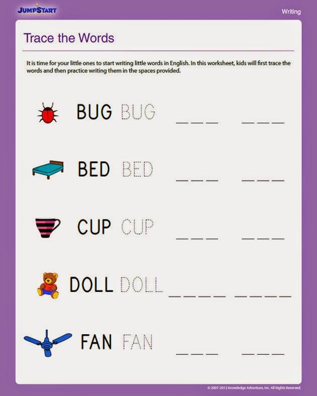 writing lessons for kindergarten