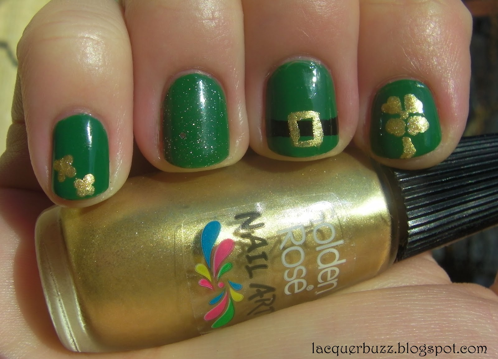 Lacquer Buzz: St. Patrick\'s Day mani