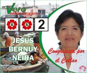 Jesús Bernuy, candidata N° 2 por el Callao de FRENTE AMPLIO