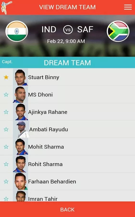 ICC Cricket World Cup 2015 Fantasy Android App released+Download 7