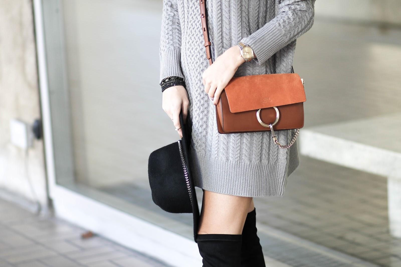 chloe faye small bag brown
