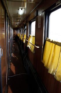 Pasillo en vagón de 2ª-Kupé, transiberiano 2015