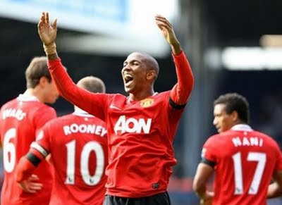 Ashley Young Manchester United vs West Brom Barclays Premier League