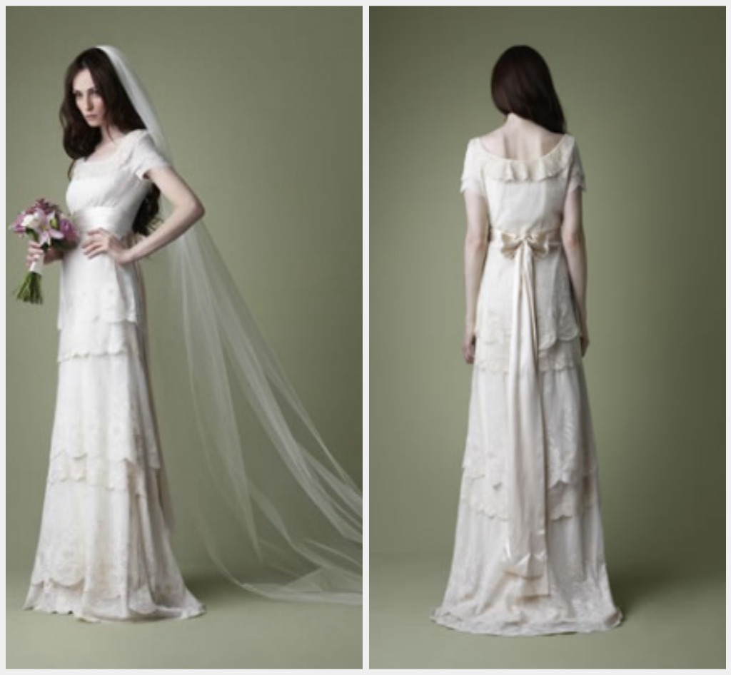 Weddings the joys and jitters vintage style wedding gown for Dress of wedding style