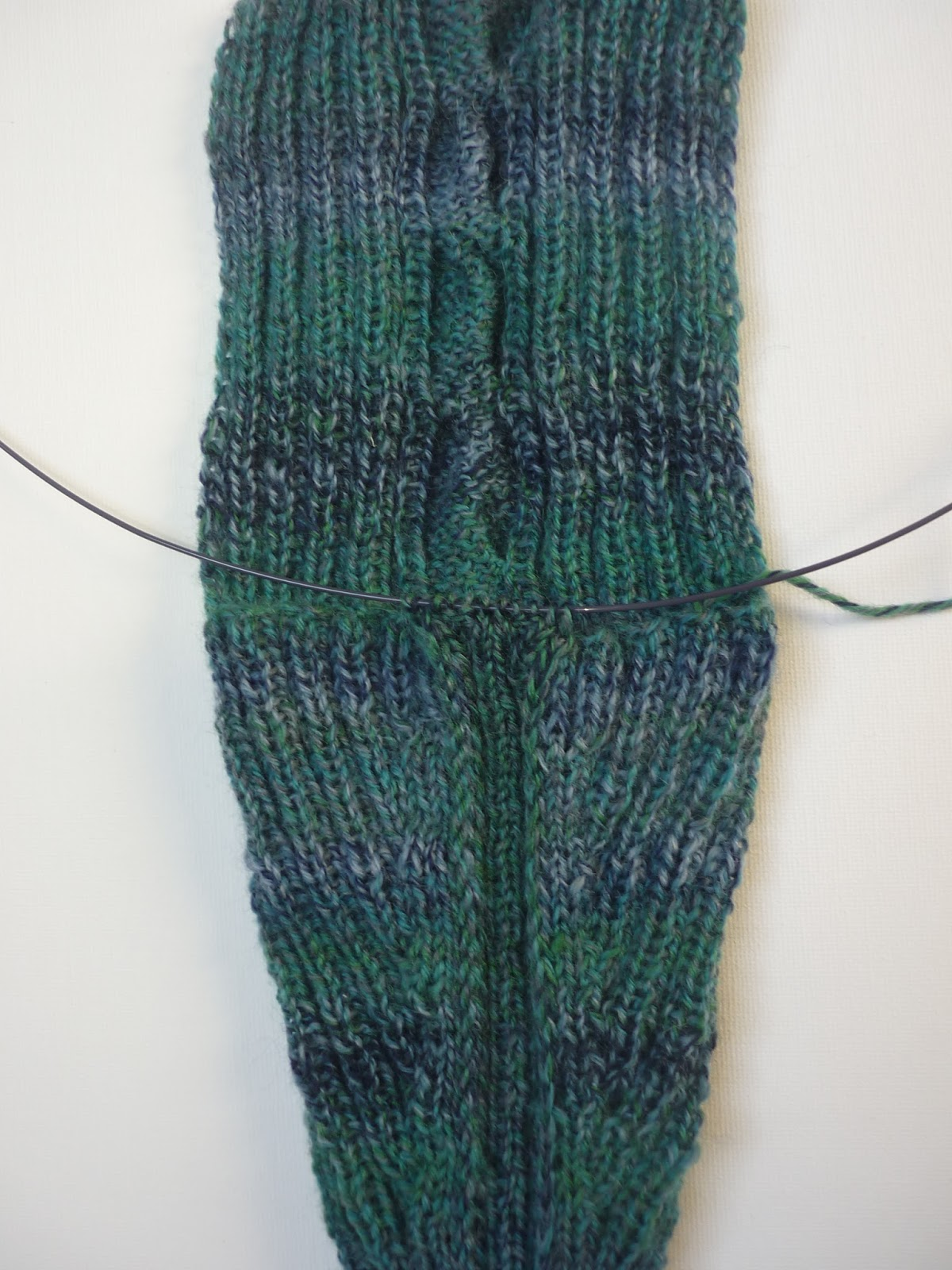 Handarbeiten Socken Auf Zwei Nadeln Ohne Naht Kurzanleitung
