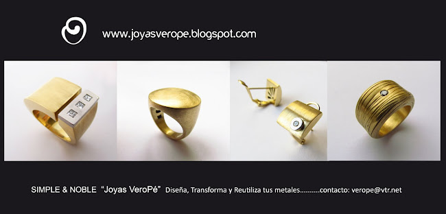 Joyas VEROPE,  Diseo de Joyas Contemporneas, Joyas a Pedido en plata y oro.
