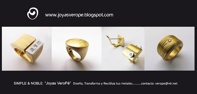 Joyas VEROPE,  Diseño de Joyas Contemporáneas, Joyas a Pedido en plata y oro.