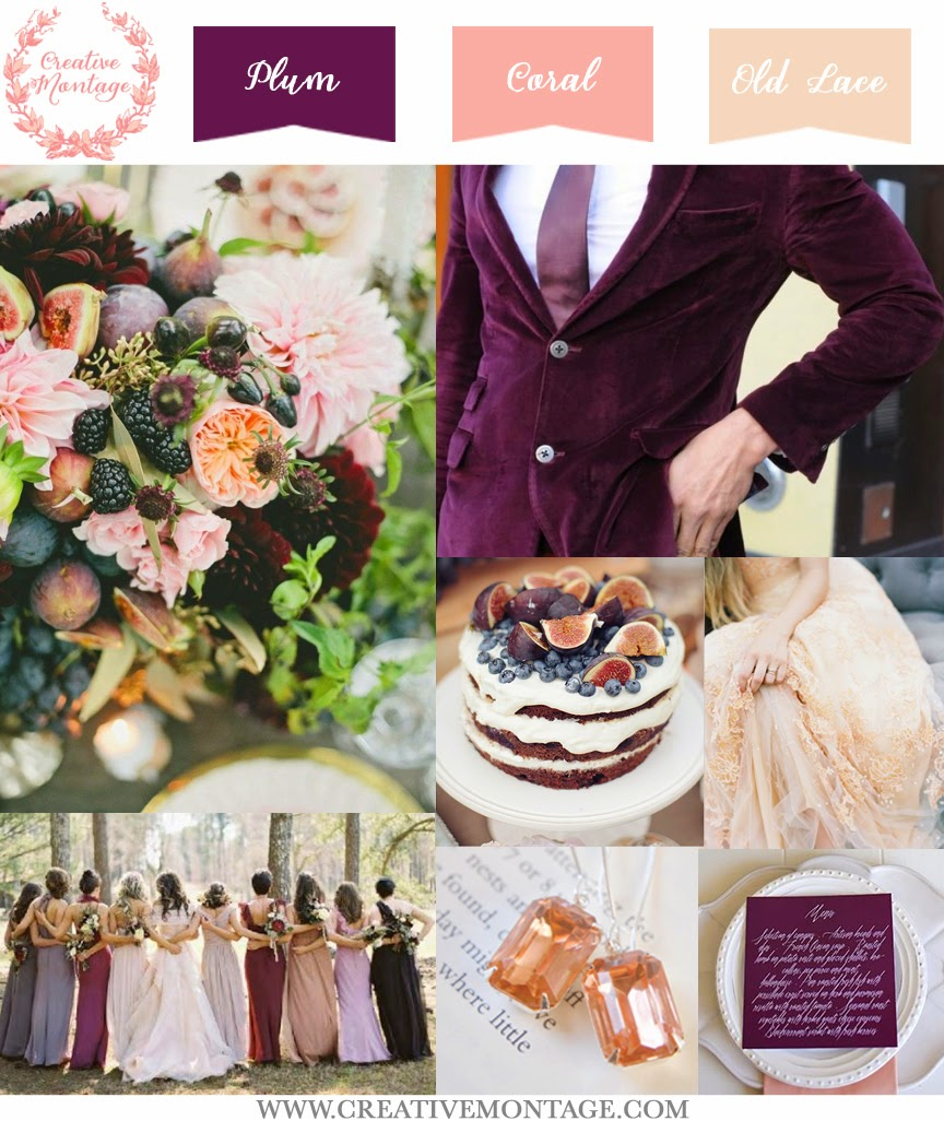 Lovely late summer/early fall palette using figs as the primary inspiration