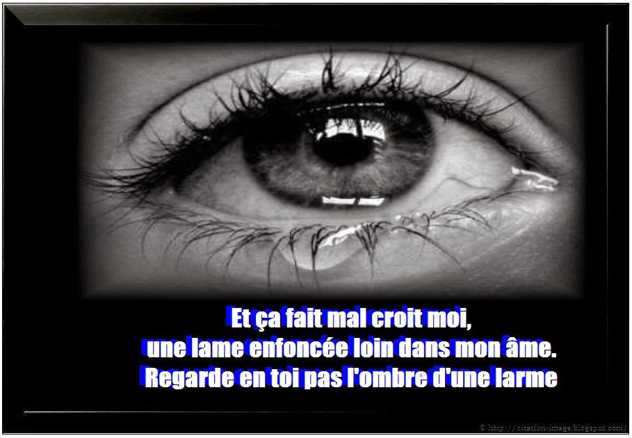 Citation de tristesse pour facebook en image
