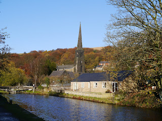 Walsden Church and the Rochdale Canal
