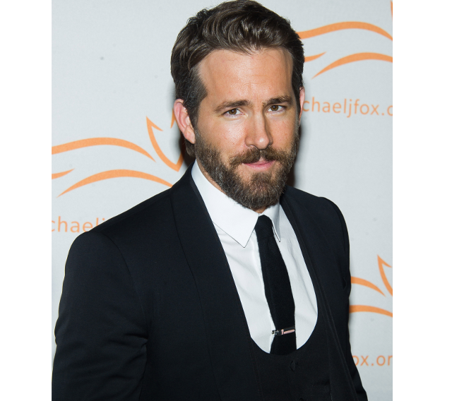 El actor Ryan Reynolds con barba