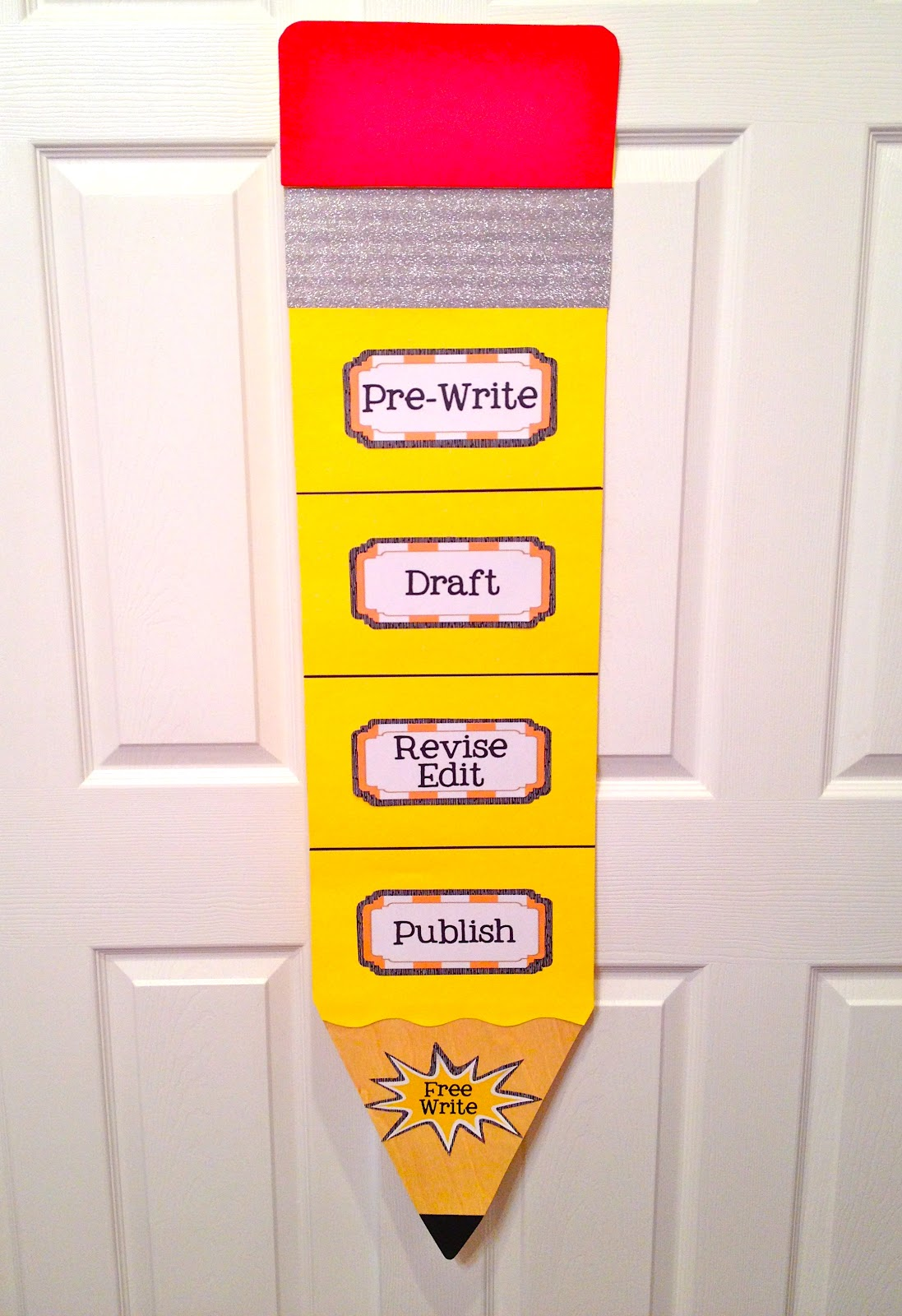 writing process chart ready for her class room    if I do say soWriting Process Chart