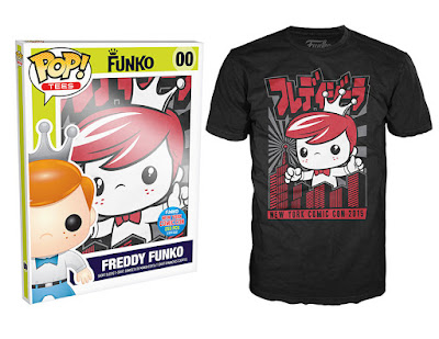 New York Comic Con 2015 Exclusive Pop! Tees T-Shirts by Funko - Freddy Funko - Freddyzilla NY