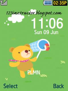 Samsung SCH-S569 Bear Theme Download Wallpaper