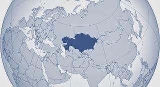 Казахстан на карте Евразии