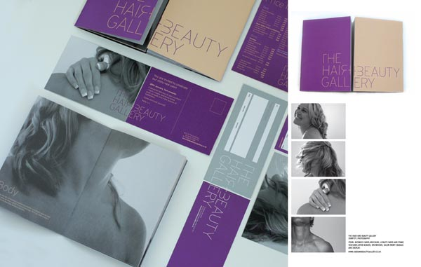 Stylish Examples Of Salon Brochure Designs  JayceOYesta
