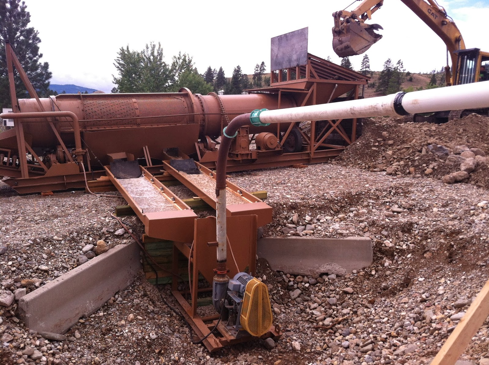 trommel wash plant going to recover some  Montana gold