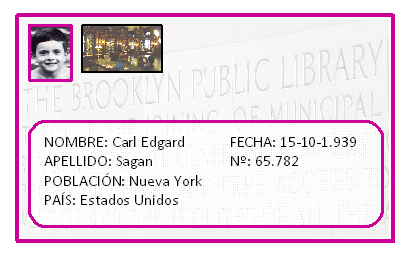 Carné de la Biblioteca Pública de Brooklin de Carl