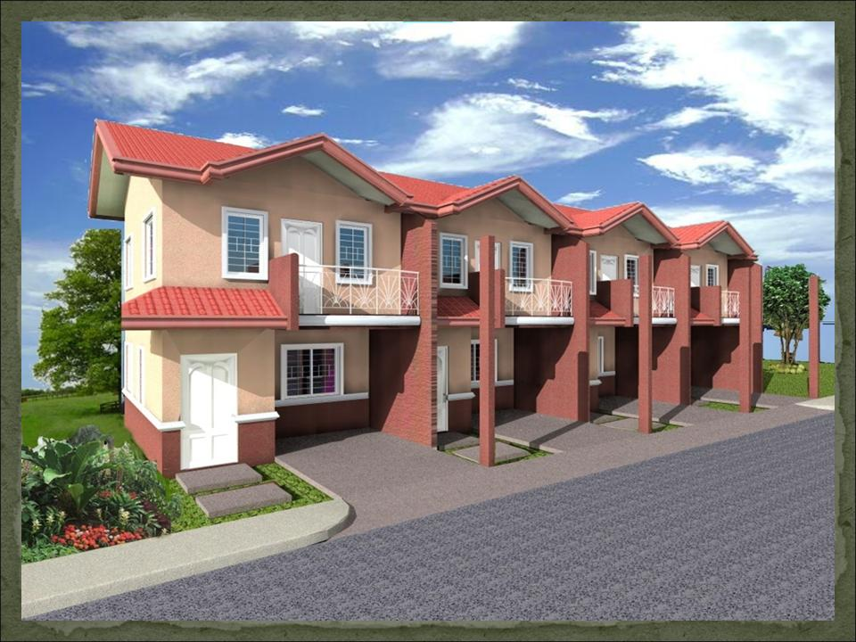 Small two story house plans with balcony design for House garage design philippines