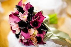 mini calla brides bouquet for a winter wedding