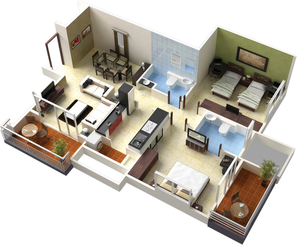 Free 3d building plans beginner 39 s guide business for 3d bedroom plan