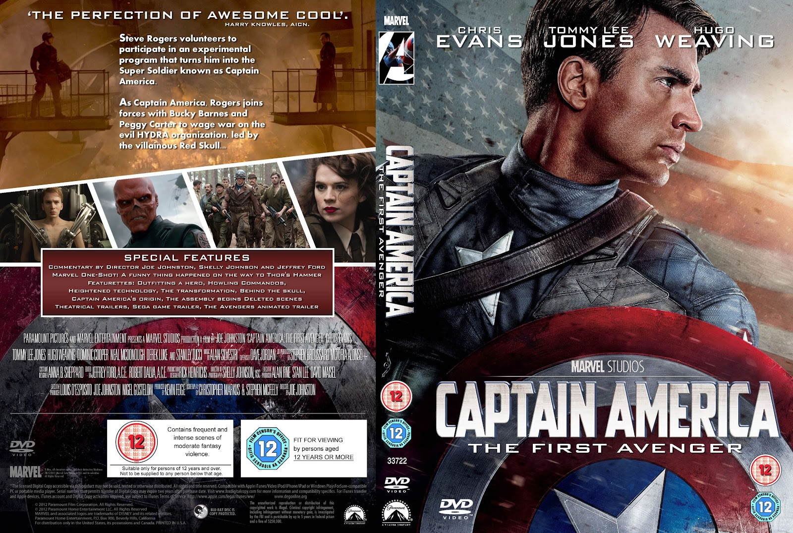 Capa DVD Captain America The First Avenger