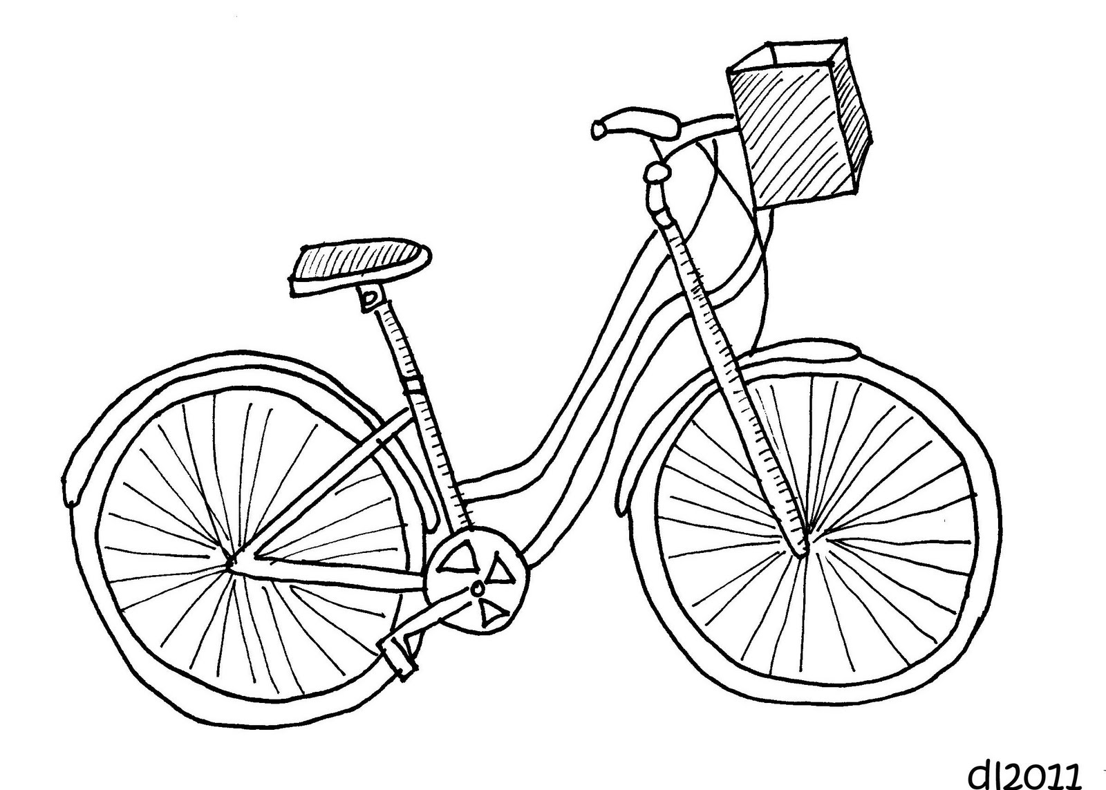 Line Drawing Bicycle : Bike drawing related keywords suggestions