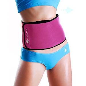 Back Workouts Actervate - Pink Waist Trimmer Belt, Slimmer Belt and Sweat Belt