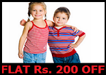 Firstcry: Clothes & Fashion Rs.200 off on Rs.499, 25% off on Rs.750