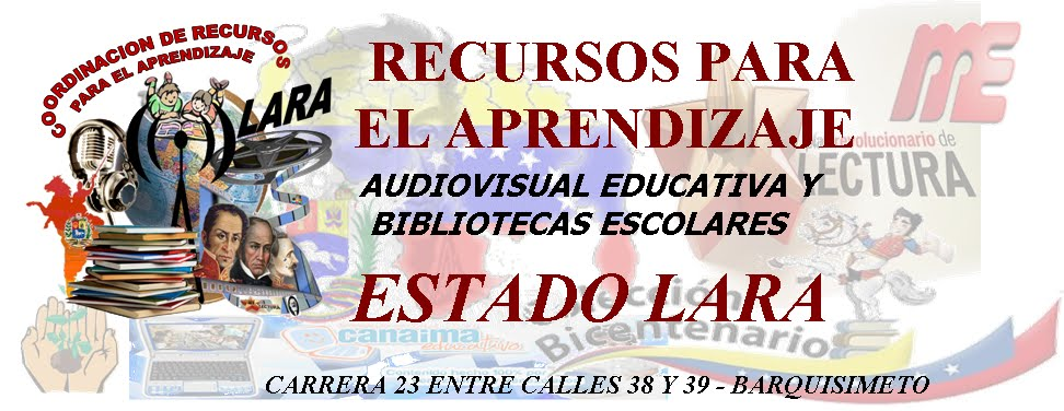 COORD. DE RECURSOS PARA EL APRENDIZAJE DE LARA