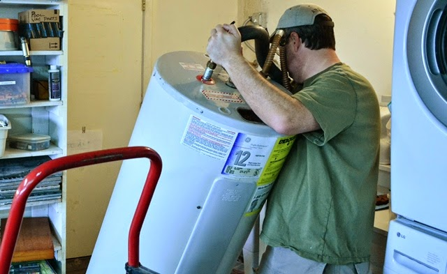 Manhandling a water heater