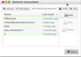 Setting Konfigurasi Modem USB di Ubuntu