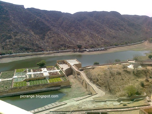 Lake view from amber fort
