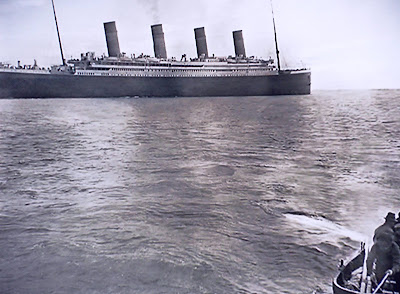 Photo of Titanic sailing from Southampton
