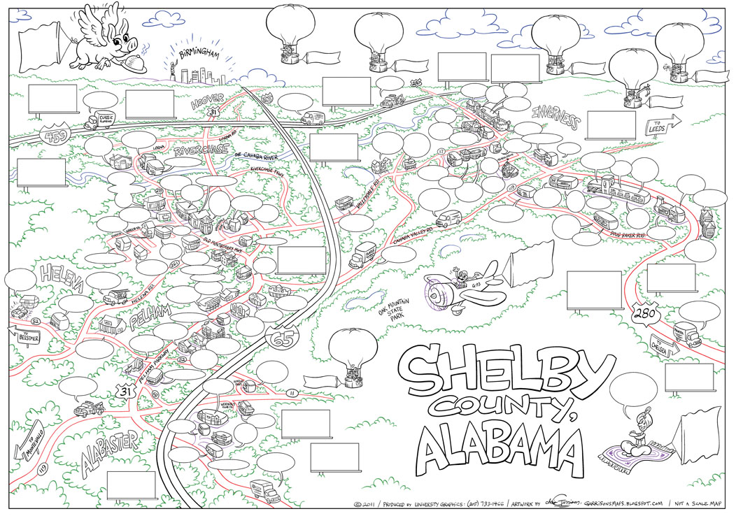 Garrison39s Maps Shelby County AL  Line Drawing