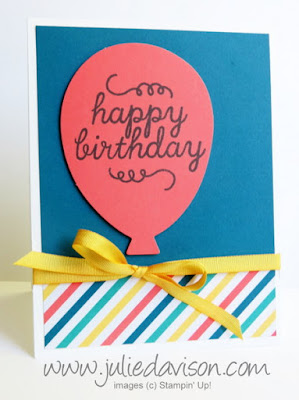 Stampin' Up! Paper Pumpkin May 2015 Birthday Bundle Bonus Project www.juliedavison.com #paperpumpkin