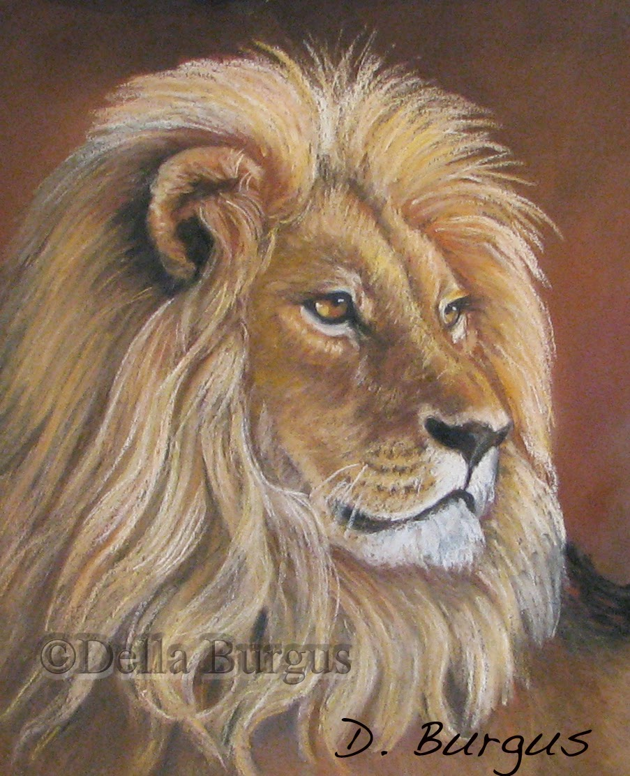 Art Helping Animals Not A Tame Lion Pastel By Della Burgus