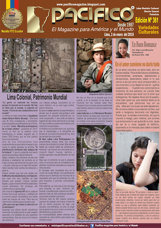 Revista Pacífico Nº 361 Variedades Culturales
