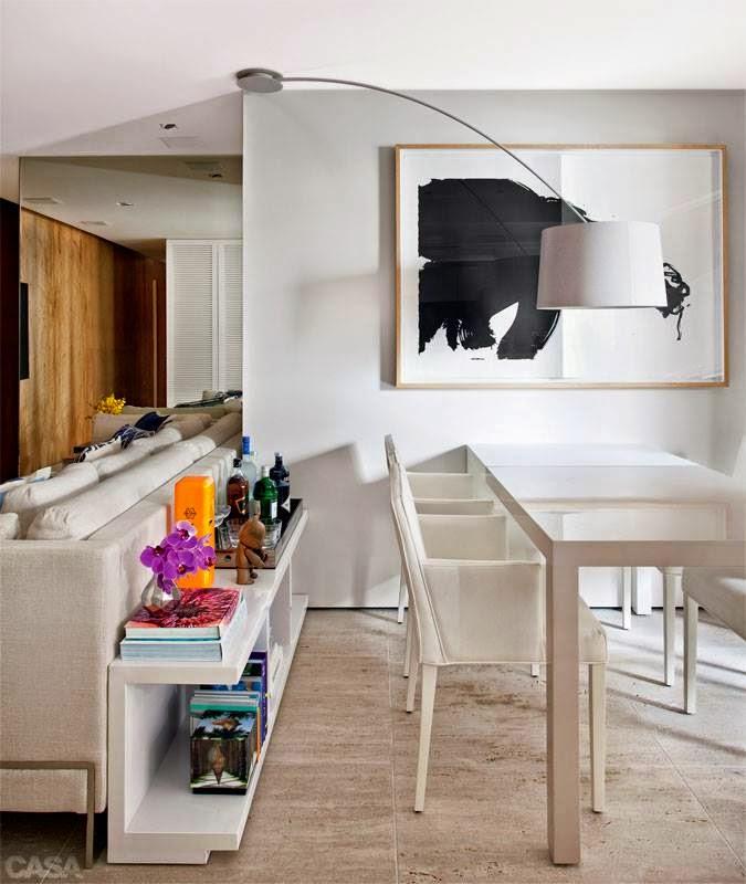 Aparador Verona Jysk ~ blog de decoraç u00e3o Arquitrecos Aparador atrás do sofá Ampliando as funções do espaço