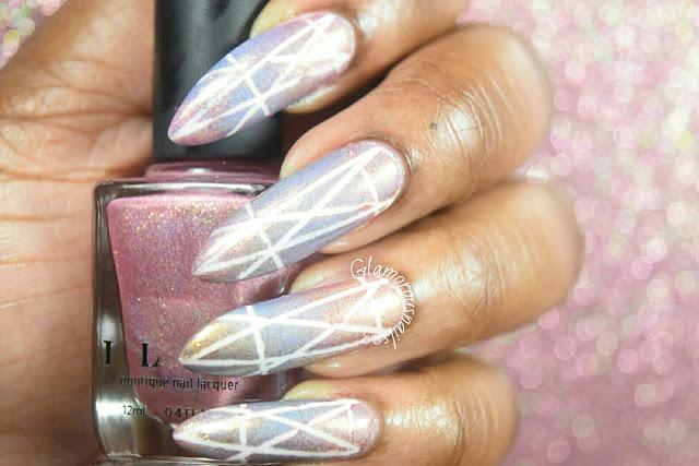 Geometric Gradient Nail Design