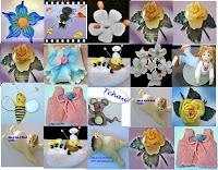 Imagem de várias peças de biscuit