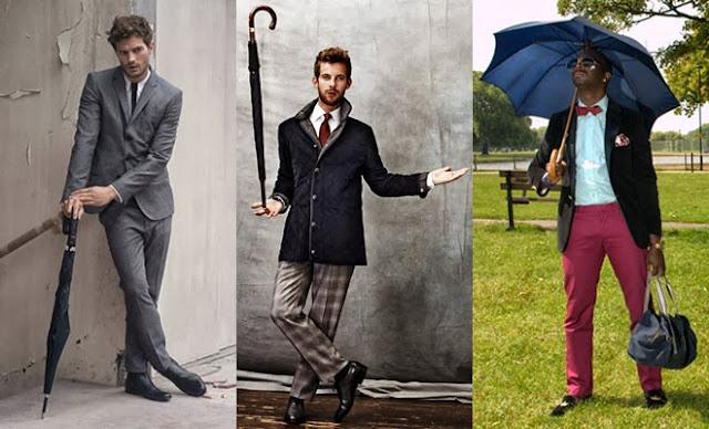 Długi parasol typu Golf - męska klasyka