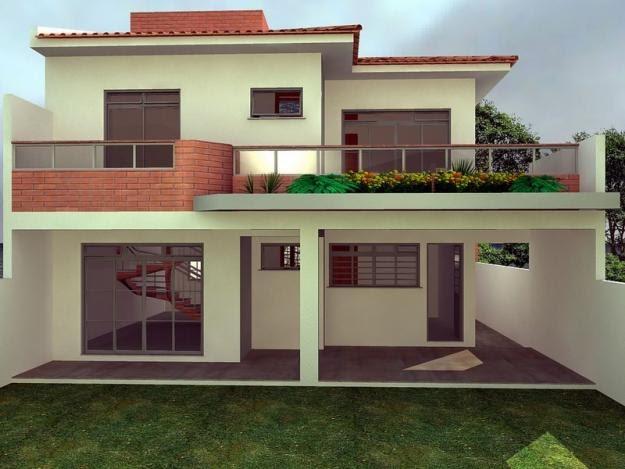 Projetos emanoel lucena modelo de casa padr o m dio for Modelos cielorrasos para casas