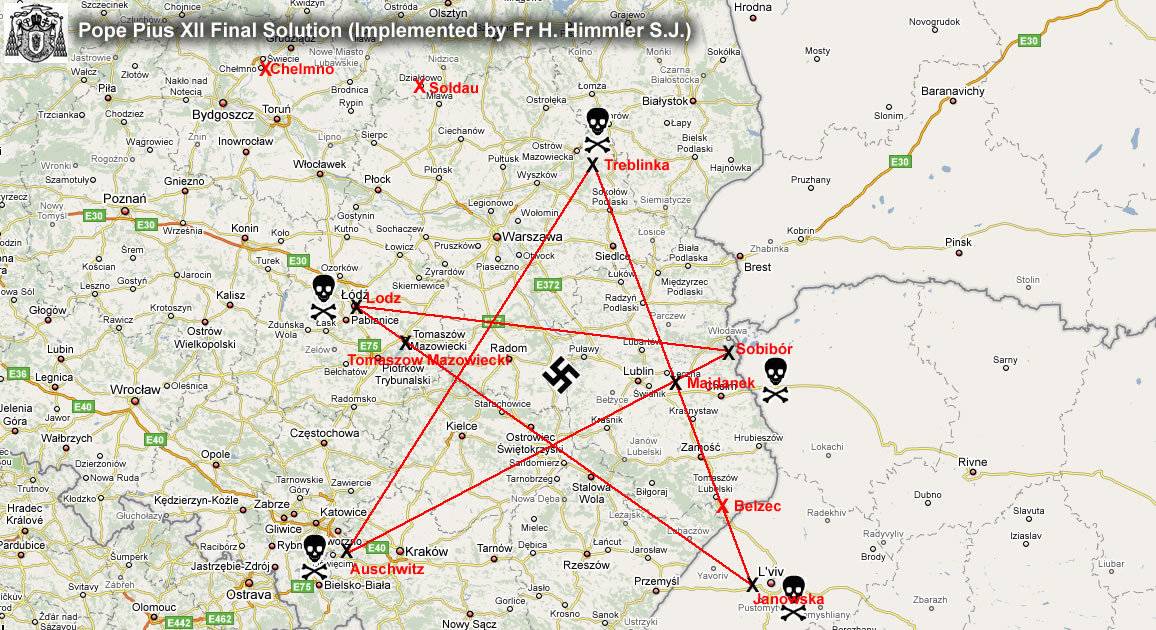 locations of concentration camps. of map concentration