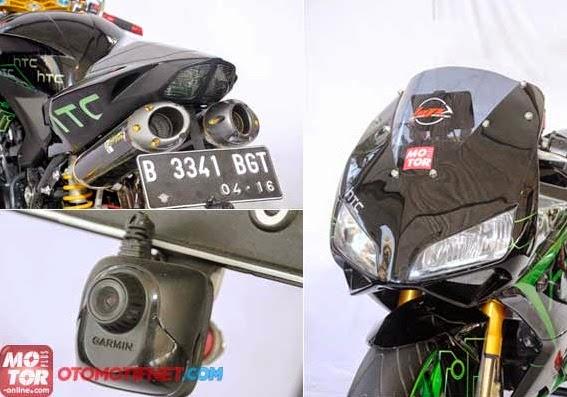 Gambar Modifikasi Knalpot Ninja 250 R 2014