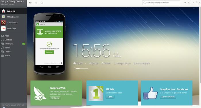 SnapPea for PC v2.69.0 - Aplikasi Untuk Sinkronkan Android ke PC